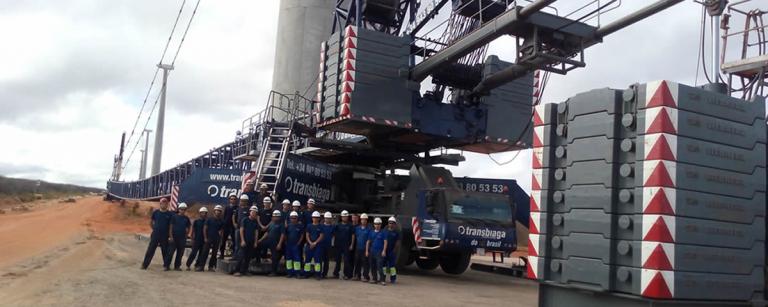 Grupo Transbiaga: expertos en montaje electromecánico de parques eólicos de acero